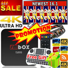 NEW Quad Core WIFI 4K Android TV Box Media Player ULTRA Sports Movies+keyboard