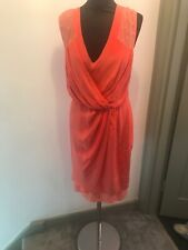 Paul Smith Black Label Coral Silk Evening Dress Size 42/UK 8-10 Read Description