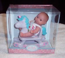 "New Berenguer Doll Lots To Love Babies 5"" Mini Nursery PlaySet Rocking Horse"