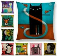 "18"" Animals Cotton Linen Pillow Case Cushion Cover Waist Cover Home Decor"