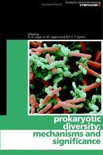 Prokaryotic Diversity: Mechanisms And Significance (society For General Micro...