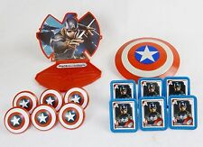 3D Cake Topper Kit, Captain America,Winter Soldier w/12 Matching Cupcake Rings