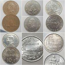 POLYNESIE FRANCAISE FRANCS 1949 - 2012 Choisissez votre monnaie !