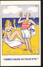 Comic Postcard - Beach / Alcohol / Seaside / Beer / Celebrating  A9928