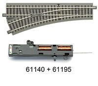 Roco H0 61140 geoLine Weiche links + Antrieb 61195 - NEU