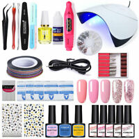 KOSKOE UV Gel Polish Set UV Lamp Dryer Electric Nail Polisher Nail Starter Kits