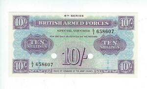 GREAT BRITAIN 10 SHILLINGS     BRITISH ARMED FORCES VOUCHER  4thSERIES  UNC