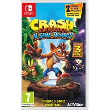 Crash Bandicoot N Sane Trilogy Nintendo Switch 3 Games 2 Bonus Levels Remsterd