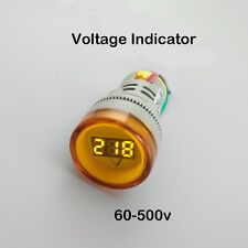 22MM TOMZN AC 60-500V LED Voltmeter voltage meter indicator pilot light Yellow