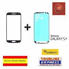 CRISTAL EXTERIOR PANTALLA FRONTAL + ADHESIVO SAMSUNG GALAXY S4 I9505 AZUL GRIS