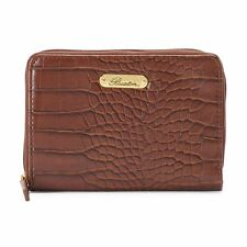 Buxton Nile Exotics Medium Zip Around Wallet   Brown   Ladies Wallet