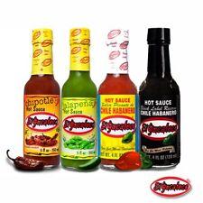 EL YUCATECO Red, Black, Chipotle, Jalapeno - 4 x Mexican Hot Chilli Sauce