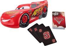 WALT Disney Pixar Cars 3 Gas Out Lightning McQueen Card Game New Toy Race Fun