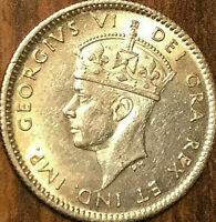 1940 NEWFOUNDLAND SILVER 5 CENTS COIN - Uncirculated