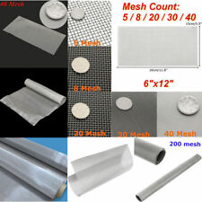 5/20/60/120/200 Mesh 304 Stainless Steel Woven Wire Filter Sheet Screen 30cm