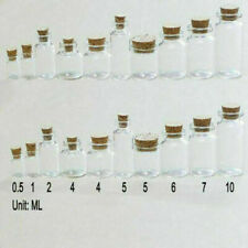 20/50/100Pcs Small Glass Bottles Corks Tiny Clear Vials Transparent 0.5ml-10ml