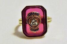 VINTAGE 10k GENUINE GOLD 6.0+ gms Ruby? Masonic Order of the Moose SZ 7.5 RING