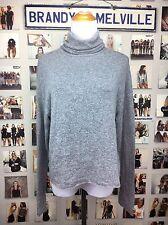 Brandy Melville Gray Lana Wool Knit Turtleneck cropped Long Sleeve Sweater NWT
