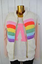 Wildfox white mode gilet femmes gesteppt tricot Doublure regebogen chaud taille s