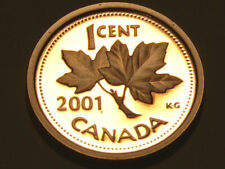 2001 Canada 1 cent proof (spot on obverse)