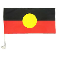 Aboriginal Car Flag and Pole Set (flag 560 x 280mm)