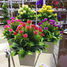 JW_ 1Pcs Potted Artificial Flower Bonsai DIY Garden Wedding Home Office Decor