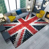 UK Flags Wall Graffiti Decor Floor Mat Home Custom Area Rugs Room Soft Carpets