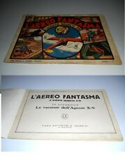 AGENTE SEGRETO X 9 N.8 ORIGINALE L'AEREO FANTASMA ED. NERBINI 1937 !!!