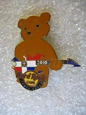 PUNTA CANA,Hard Rock Cafe Pin,Bear Playing Flag Guitar