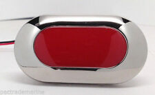 MARINE BOAT RED LED OBLONG COURTESY LIGHT WITH STAINLESS STEEL BEZEL