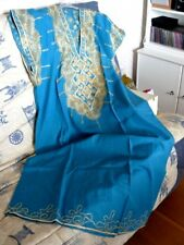 Très belle DJELLABA bleue ,manches courtes