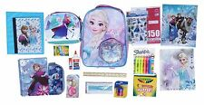 """Ultimate Frozen Back to School Bundle includes 16"""" Backpack, Lunchbox, 65 pieces"""