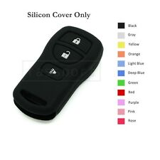 Silicone Skin Jacket Cover Holder fit for Nissan Remote Key Case Shell 3 BTN BK