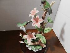 1994 Homco Classic Porcelain Hummingbird Fantasy w/ Dipladenia Flowers Figurine