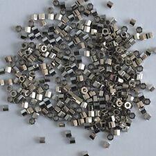 Miyuki Delica Hex DBC0038 Silver Size 11 Palladium Plated Cut Bead 2g