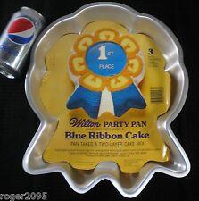 Wilton Cake Pan: Blue Ribbon (1979) - Shaped Birthday Aluminum Cake Pan!
