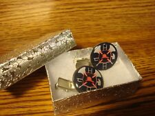 #2 (1 pair) FIREFIGHTER-FIRE Dept LOGO design Silver Tone Hair Clips-Barrettes