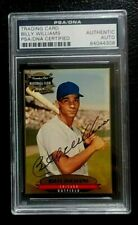 1996 CANADIAN CLUB BILLY WILLIAMS SIGNED BASEBALL CARD PSA/DNA AUTHENTIC AUTO
