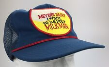 Vtg Meyers Dairy Hooversville Pennsylvania Milkman Trucker Hat Mesh Snapback Cap