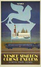 Vintage Orient Express Venice Poster A3 Reprint