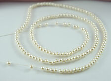 *180pcs Pearl Beads 3mm Cream/Ivory Color Imitation Acrylic Round Pearl Spacer*