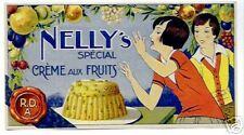 VINTAGE FRENCH LABEL NELLY'S CREME AUX FRUITS ART DECO