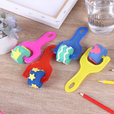 4Pcs/set drawing toys roller seal sponge brush creative children painting toy Sg