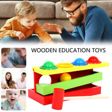 Educational Montessori Toy for Toddler Kids Wooden Knocking Piling Early Years