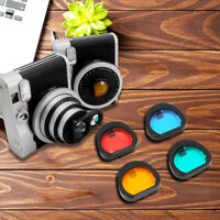 3.2 x 3cm 4 Colors Lens Filters Set for Fujifilm Instax Mini 90 Instant Camera