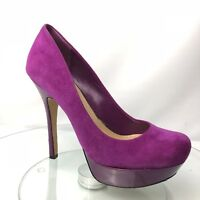 Jessica Simpson Women Platform Heels Fuschia Size 6 Leather Suede Given