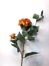 Artificial Burnt Orang Hydrangea Stem Artificial Flowers Artificial Leaves Silk
