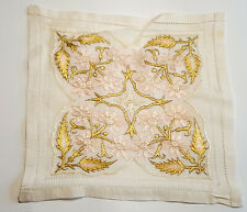 More details for antique chinese hand silk embroidered napkin. 1900s.