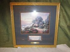 """A NEW DAY DAWNING Thomas KINKADE Accent Print Matted Gold Frame 14""""x14"""" COA 1999"""