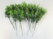 Pack of 12 Artificial Tea Leaf Picks - 24cm - Bundle Green Leaves Foliage